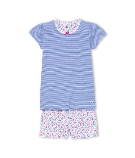 Petit Bateau Girls Cotton Milleraies Short Pyjama