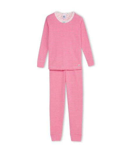 Petit Bateau Girls Flower Print Cotton Pyjama