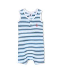 Petit Bateau Baby Boys Striped Cotton Short Shortie