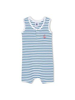 Baby Boys Striped Cotton Short Shortie