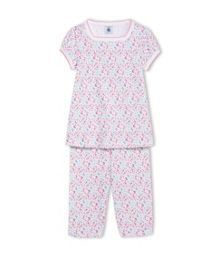 Girls Flower Print Short Pyjama