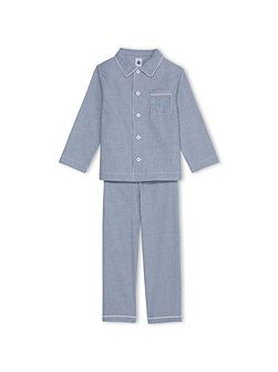 Boys Gingham Poplin Pyjamas