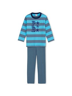 Boys Light Jersey Wide Stripe Pyjamas