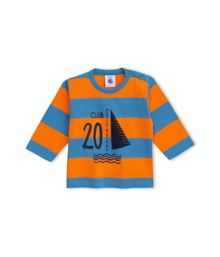 Petit Bateau Baby Boys T-Shirt In Striped Jersey