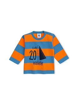 Baby Boys T-Shirt In Striped Jersey