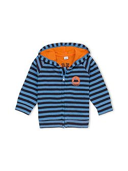 Baby Boys Hooded Striped Sweatshirt