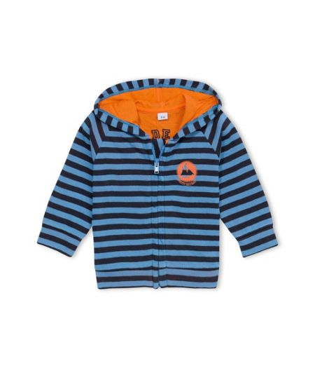 Petit Bateau Baby Boys Hooded Striped Sweatshirt