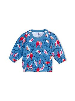 Baby Girls Bird Print Sweatshirt
