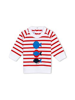 Baby Boys Striped Sweatshirt