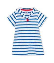 Petit Bateau Baby Girls Breton Stripe Dress