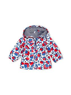 Baby Girls Lemons Print Raincoat