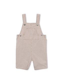 Baby Boys Striped Short Dungarees