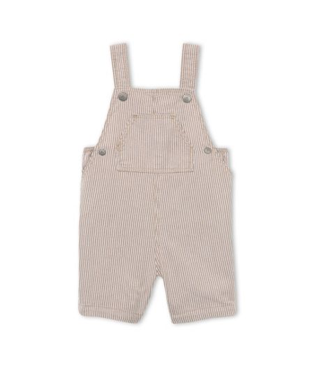 Petit Bateau Baby Boys Striped Short Dungarees
