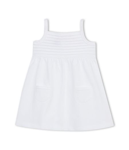 Petit Bateau Baby Girls Pleated Panel Dress