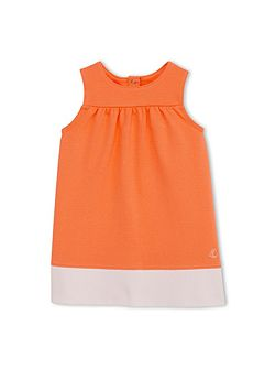 Baby Girls Dress In Two-Tone Jersey