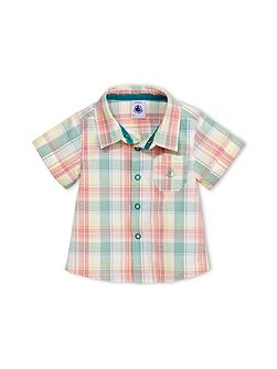 Baby Boys Short-Sleeved Checked Shirt
