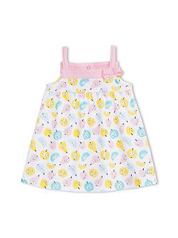 Baby Girls Fruity Print Strappy Dress