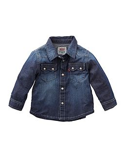 Boys long-sleeved denim shirt