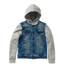Levi's Boys hooded bi-material style jacket