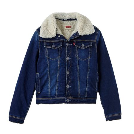 Levi's Boys Shearling Collar Denim Jacket