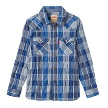Levi's Boys slim fit checked shirt