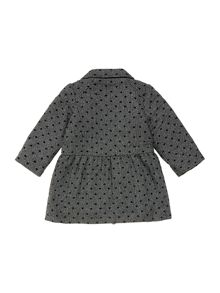 Baby girls tweed flocked coat