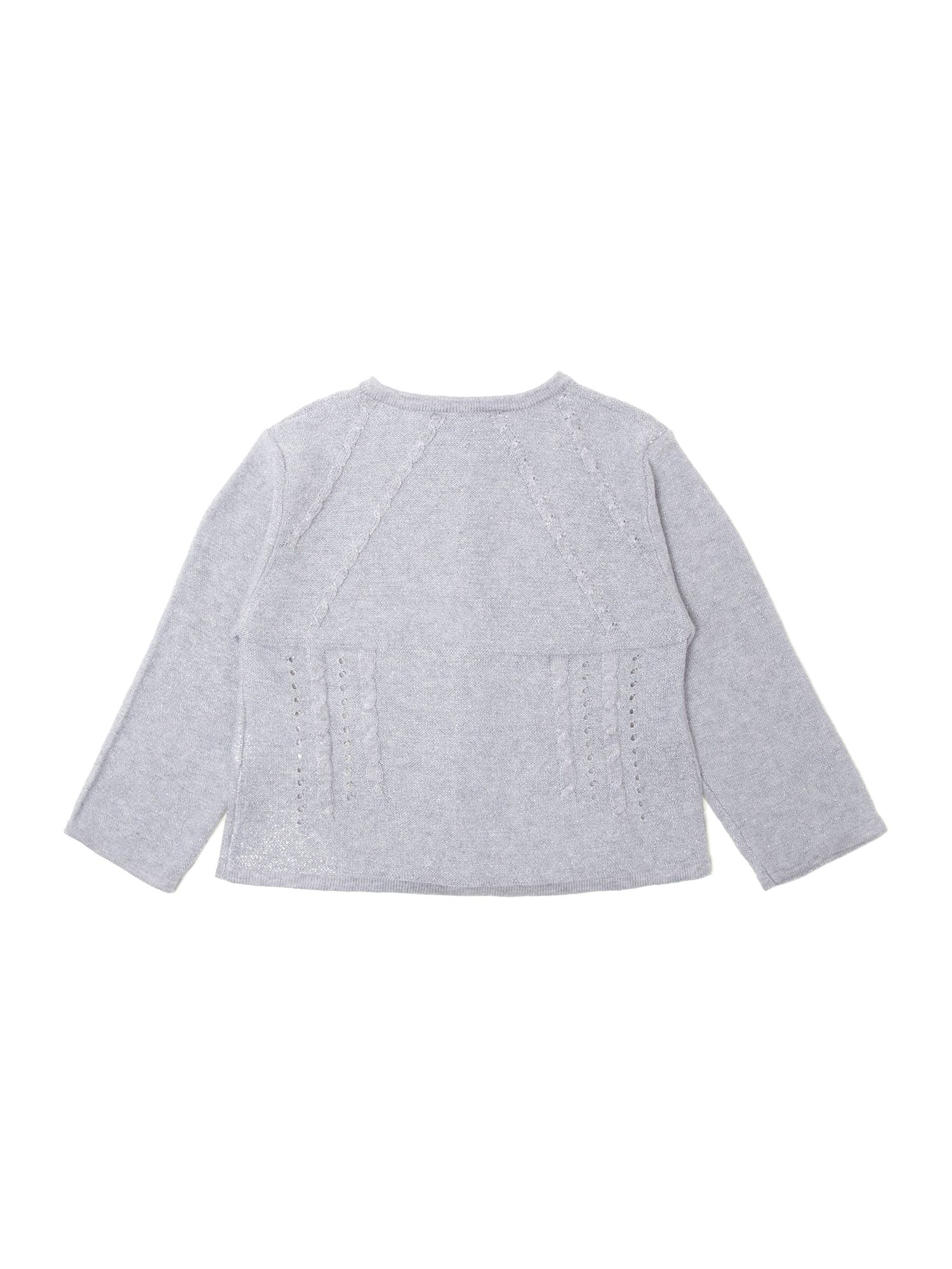 Girls knitted long sleeve cardigan