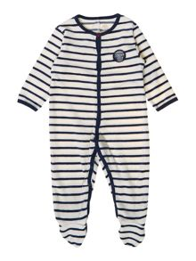 Baby boys terry velvet pyjamas