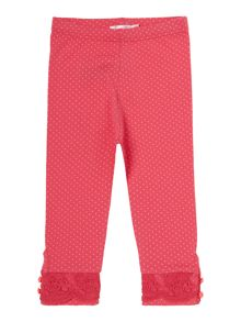 Baby girls jersey polka dots leggings