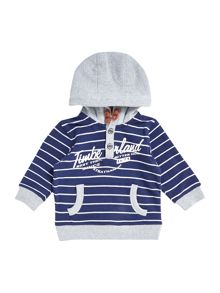 Baby boys fleece striped long sleeve sweater
