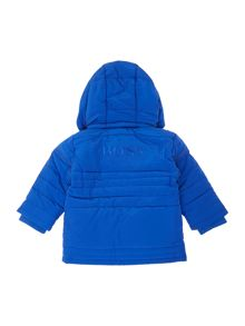 Baby boys coated long sleeve down jacket