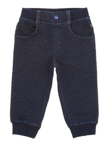 Baby boys denim fleece jogging bottoms