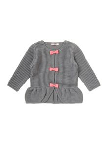 Baby girls knitted long sleeve cardigan