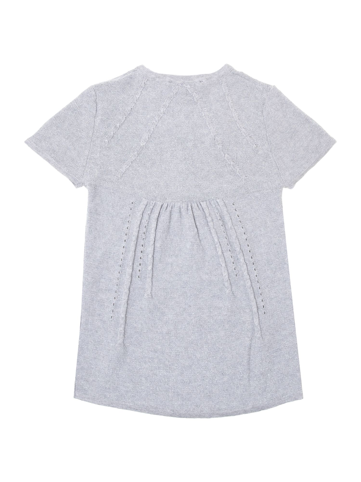 Girls knitted lurex short sleeve dress