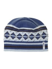 Baby boys knitted striped hat