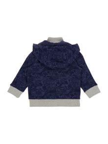 Boys fleece hooded cardigan
