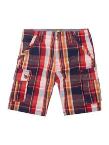 Boys checked bermuda shorts