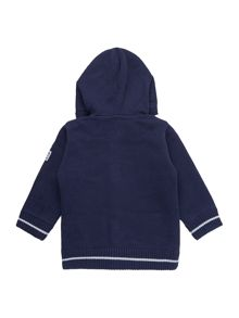 Baby boys reversible hooded cardigan