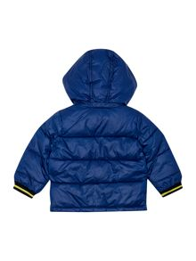 DKNY Baby boys hooded puffer jacket