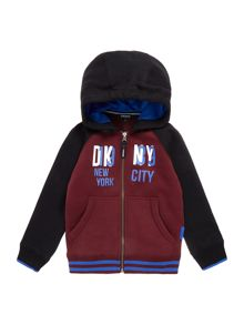 Boys hooded fleece cardigan