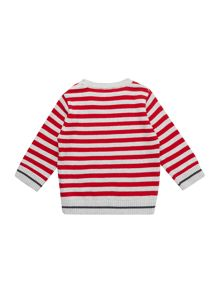 Baby boys striped knitted sweater