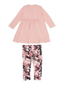 DKNY Baby girls dress and leggings set