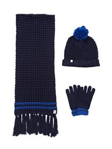 Carrement Beau Boys hat, glove and snood set