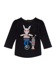 Little Marc Jacobs Baby girls cotton t-shirt