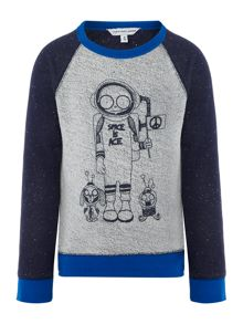 Little Marc Jacobs Boys fleece sweater