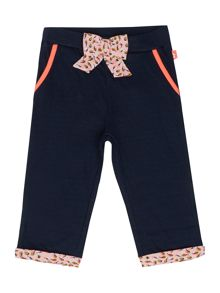 Baby girls trousers with a bow
