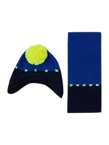 Billybandit Baby boys hat and scarf set