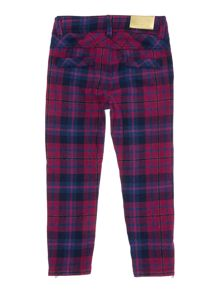 Girls checked trousers