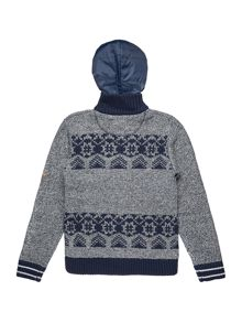 Timberland Boys hooded knitted cardigan