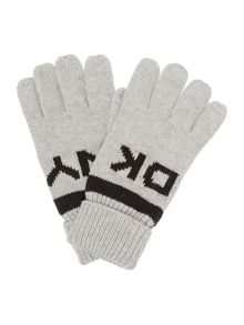 DKNY Boys reversible gloves
